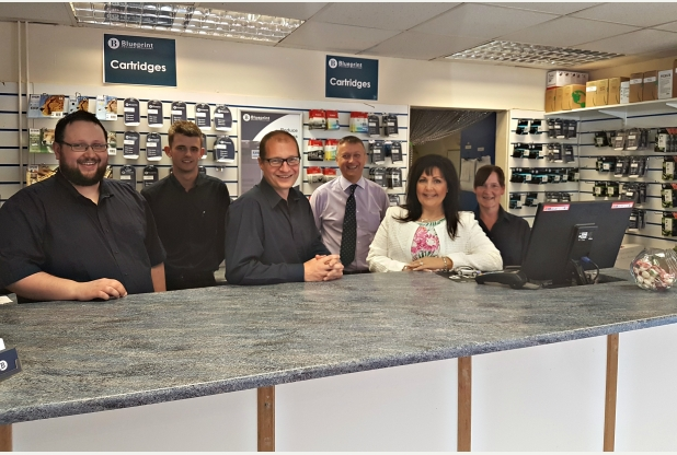 Print specialist stuart refills franchise with his own brand new start blueprint document solutions with stuart brook centre and katerina dainty second right malvernweather Images