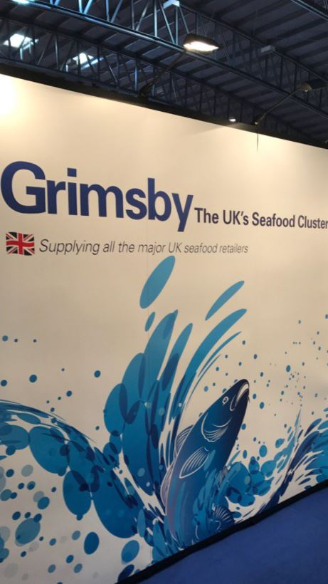 BRAND AWARE: Grimsby's exhibition stand at IceFish.