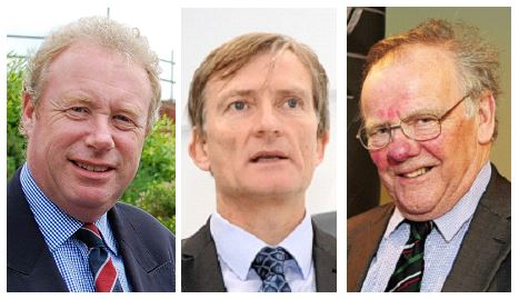 Neil Etherington, Simon Green and Lord Haskins.
